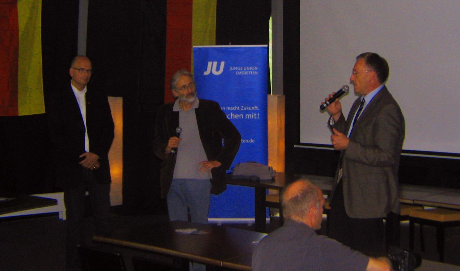 Dieter Jasper (CDU) , der Regisseur, Georg Moenikes (CDU)